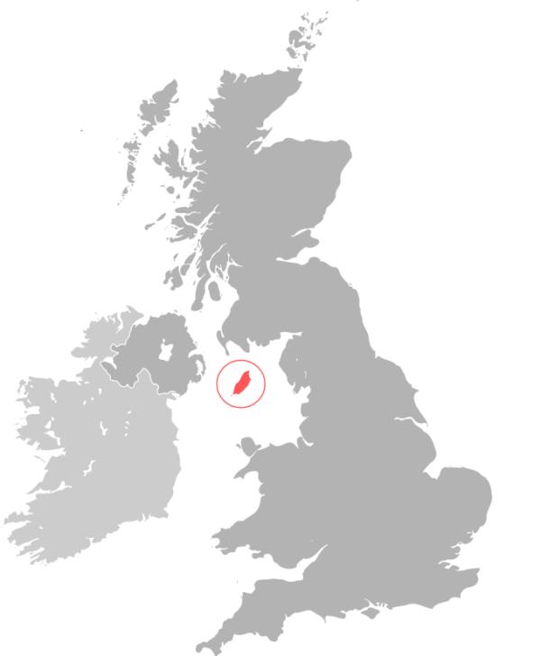 RL360°(ロイヤルロンドン)の本拠マン島の場所