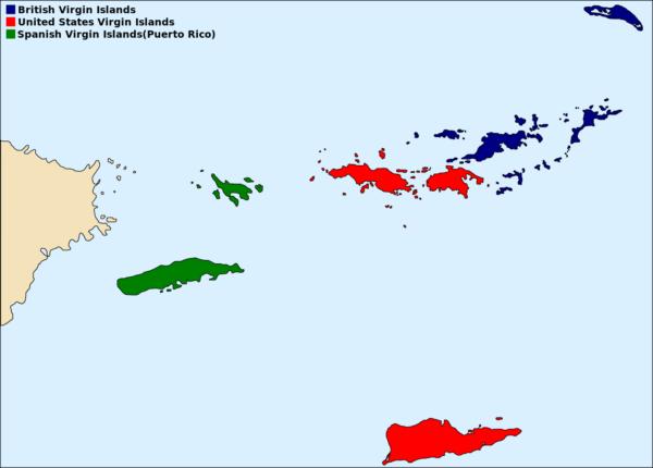 イギリス領ヴァージン諸島の場所